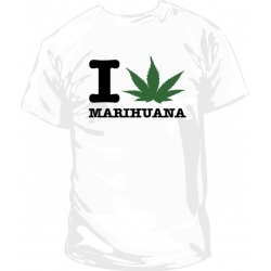 Camiseta I love marihuana