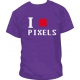 Camiseta I Love Pixels