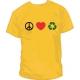 Camiseta Paz Amor y Reciclaje