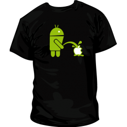 Camiseta Android VS Apple