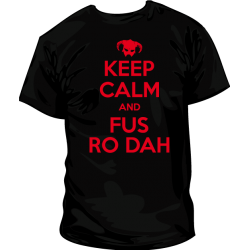 Camiseta KeepCalmFusRoDah
