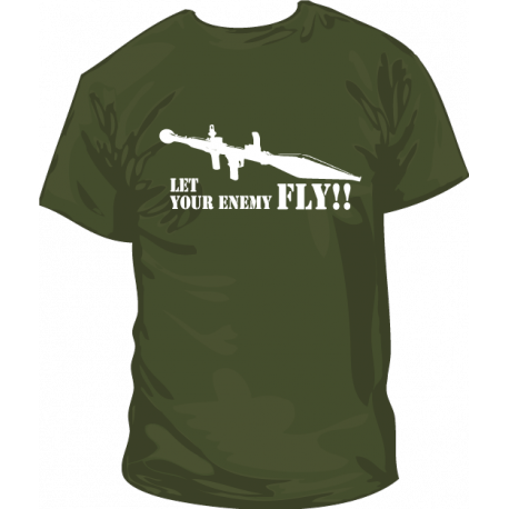 Camiseta Let your Enemy Fly