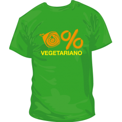 Camiseta 0% Vegetariano