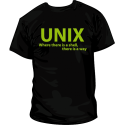 Camiseta UNIX Shell