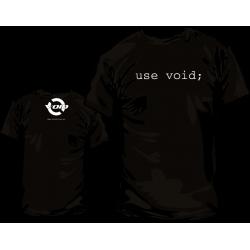 Camiseta void Linux y Pack Pegatinas - Modelo 2