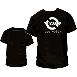 Camiseta void Linux y Pack Pegatinas - Modelo 3