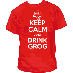 Camiseta Keep Calm Drink Grog