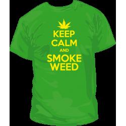 Camiseta Keep Calm Smoke Weed