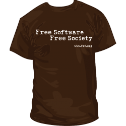 Camiseta Free Software Free Society