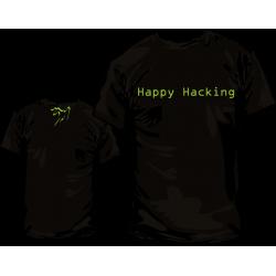 Camiseta Happy Hacking GNU