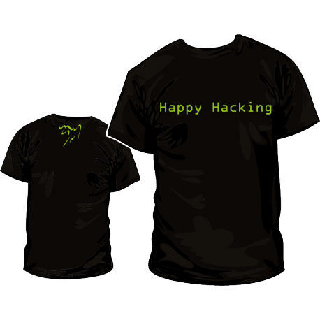 Camiseta Happy Hacking GNU