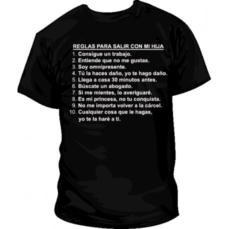 Camiseta Reglas para salir con mi hija
