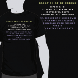 Great Shirt Of Coding [8equalsD]
