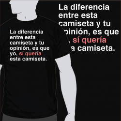 Diferencia Camiseta Opinion [8equalsD]