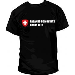 Camiseta Suiza pasando de movidas