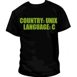 Camiseta Country: UNIX, Language: C