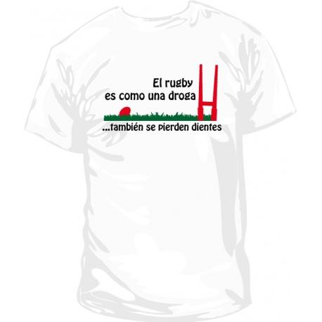 Camiseta el rugby y la droga
