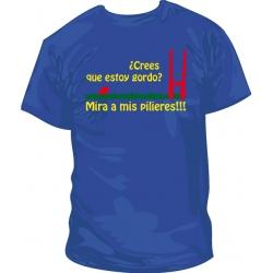 Camiseta si piensas que estoy gordo