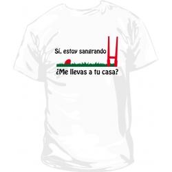 Camiseta rugbier sangrando
