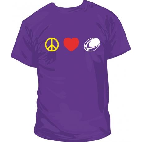 Camiseta Paz, Amor y Rugby